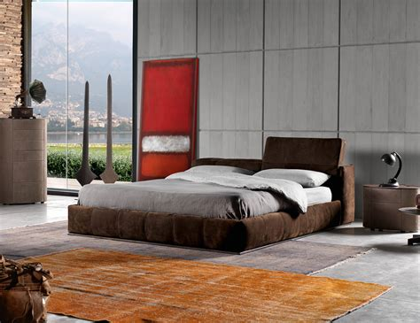 nella vetrina karma letto luxury storage bed  brown suede