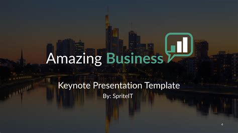 Business Keynote Presentation Template By Spriteit Amazing Keynote Presentations