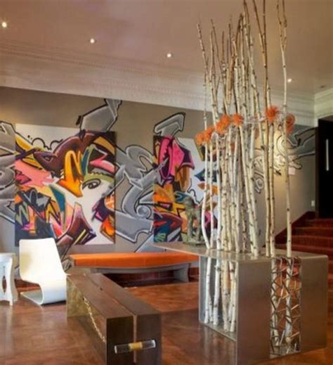 graffiti wallpaper living room five wall design trends to master