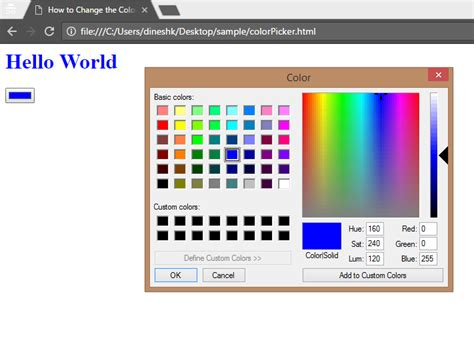 jquery change color how to change the color of text in html using jquery
