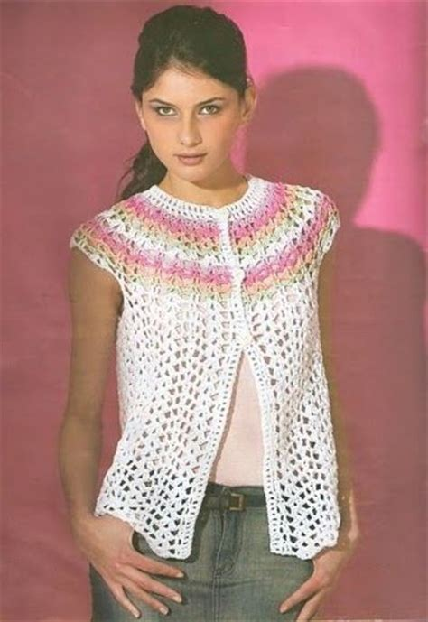 pattern sleeveless cardigan sleeveless bolero sweater free crochet graph pattern
