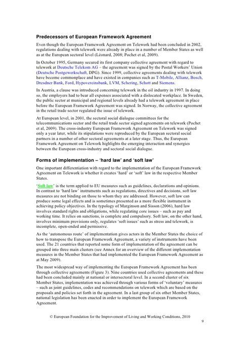 telework agreement template images templates design ideas