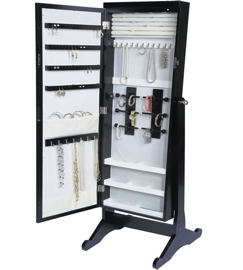 Standing Jewelry Armoires 28 Images Black Mirror Jewelry Armoire Cabinet Storage