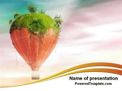 Hot Air Balloon Powerpoint Template By Poweredtemplate Com Air Powerpoint Template