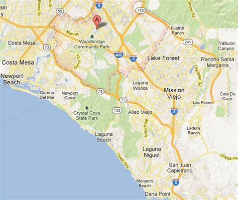 map of irvine california south orange county drain heating plumbing services