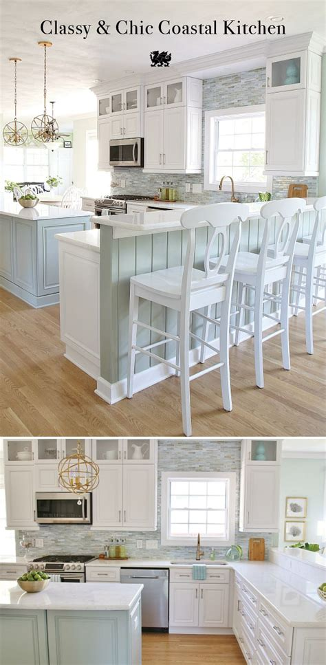 s2 desain indonesia this white kitchen with seaside hues by sand sisal