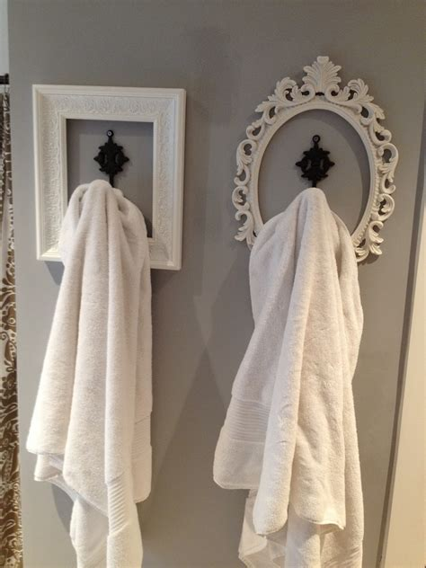 Bathroom Towel Hanging Ideas Look For Basement Bathroom Hang Your Robe Towels Etc Used Frames Spray Paint