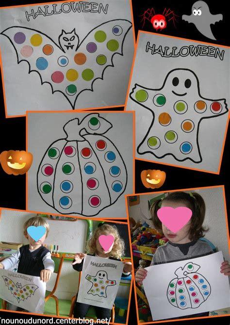 activite collage de gommettes pour halloween  avec