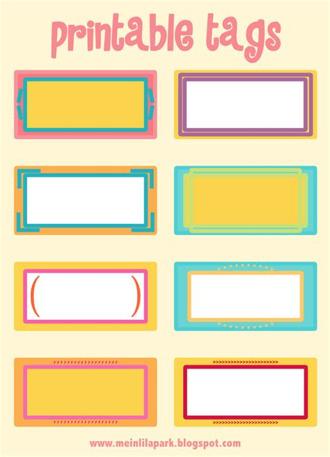 printable tags designs 7 best images of printable blank name tags free