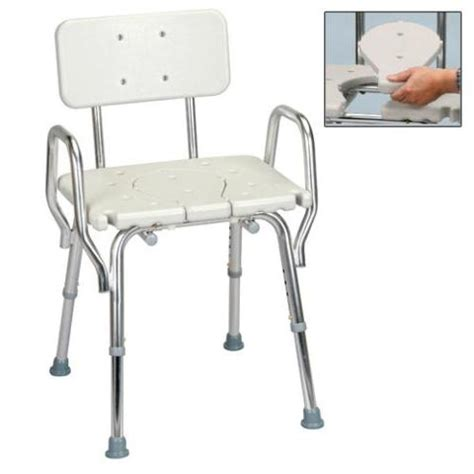bath and shower chairs shower chair with arms back and replaceable cut out seat