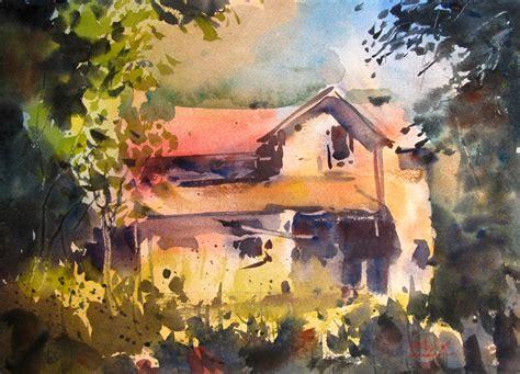 painting of house sequoia gallery studios 87 beginning splash