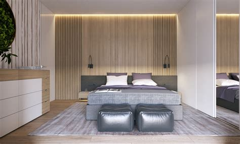 lilac and silver bedroom modern house design using a wooden accent and pastel color