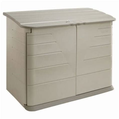 Rubber Made Storage Sheds by Rubbermaid Horizontal Storage Shed 38 Cubic Rub374701olvss
