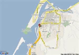 eureka california map map of comfort inn eureka eureka