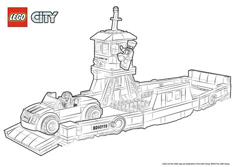lego city coloring pages 60119 ferry colouring page lego 174 city activities