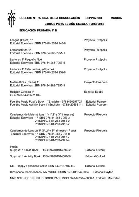 Libros de 1º 2º primaria 2012 2013