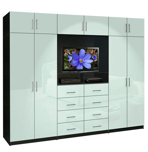Bed Wardrobe Unit by Aventa Tv Wall Unit X 10 Door Wall Unit For Bedrooms Contempo Space