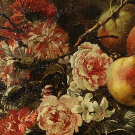 fiori con la frutta natura morta con fiori e frutta pittura antica arte