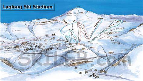 Laklouk ski resort trail map   SKILEB.com