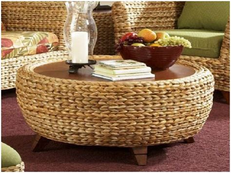 seagrass ottoman storage functional seagrass ottoman storage railing stairs and
