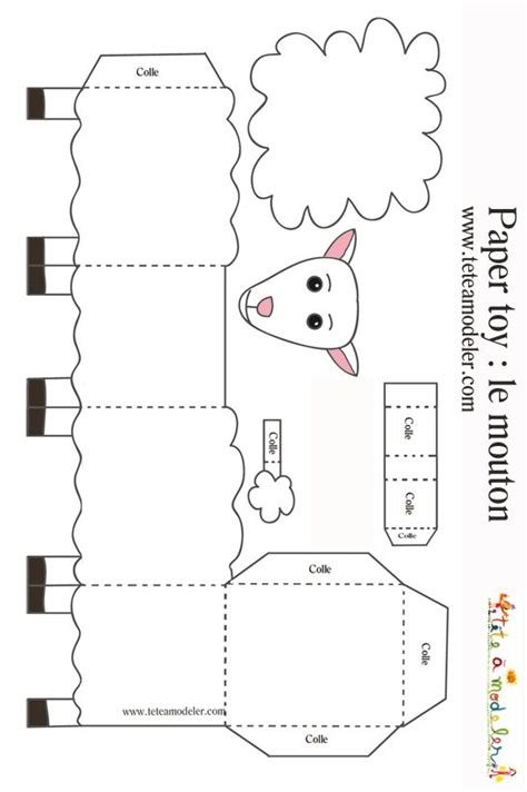 cardboard sheep template sheep paper toys and on
