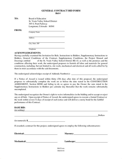 general construction contract template 6 general contractor contract templatereport template