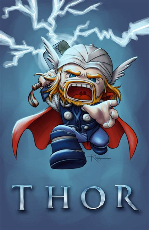 thor chibi by raven b a on deviantart