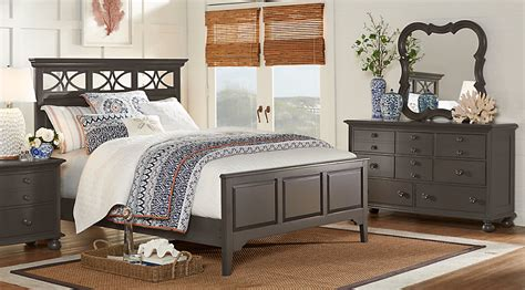 cindy crawford bedroom set cindy crawford home seaside gray 5 pc king panel bedroom