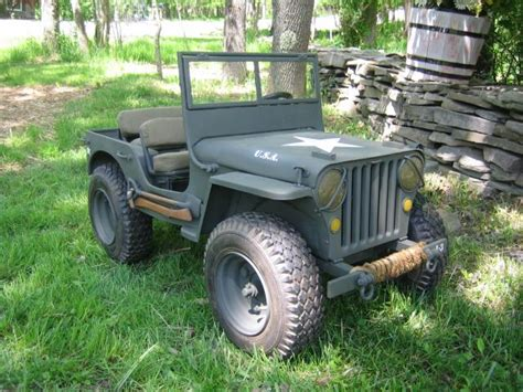 small jeep amazing mini gocart wwii military willys jeep replica