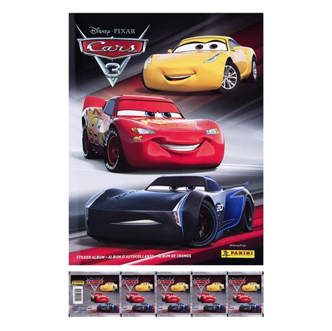 Cars With Sticker by Cars 3 Movie Sticker Collection Combo