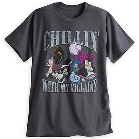 disney shirt for adults villains tee chillin' with my