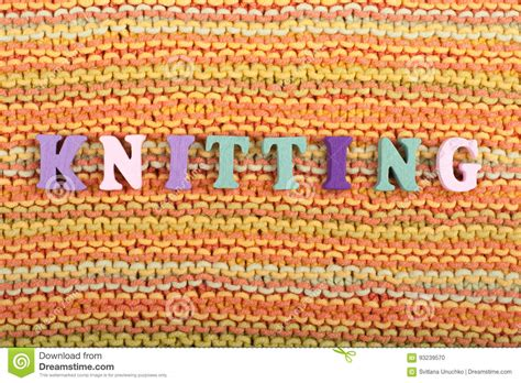 knitting words knitting knitted fabric texture word composed from abc
