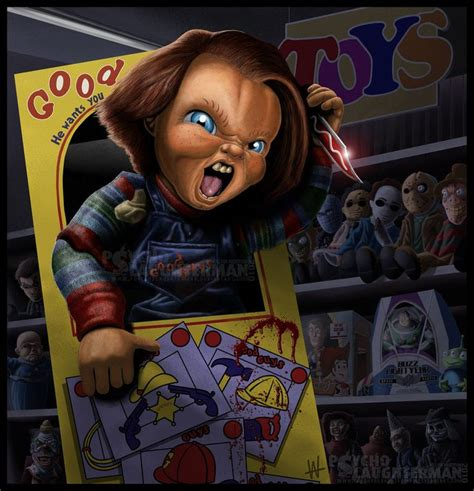 horror film wiki chucky chucky art from the child s play series of films horror