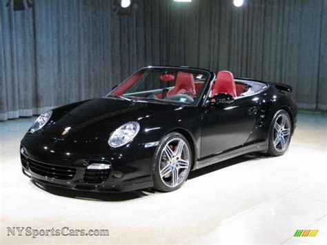 porsche 911 convertible black 2008 porsche 911 turbo cabriolet in black 789823