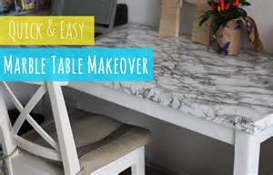 contact paper desk makeover diy marble table and easy table makeover