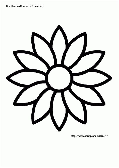 Great Coloriage Fleur Colorier Dessin Imprimer Coloriages