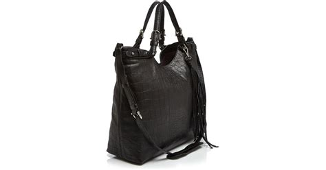 Aigner Revolve lyst etienne aigner embossed convertible tote in black