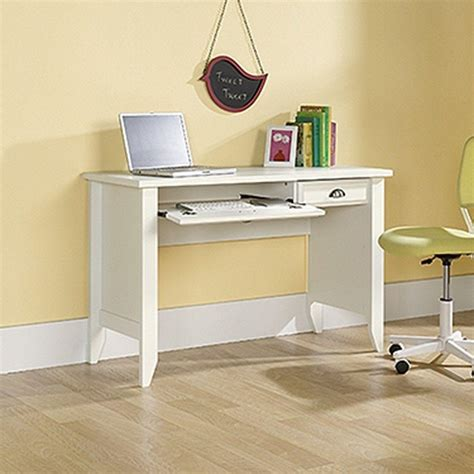 sauder shoal creek computer desk sauder shoal creek collection white computer desk with