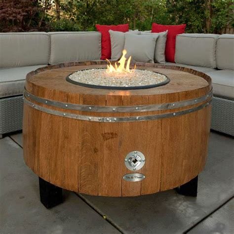 moderna wine barrel pit table chat height by vin de