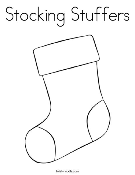 out line of a stocking new calendar template site