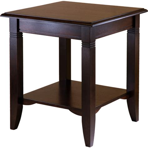 Wal Mart Tables by Nolan End Table Cappuccino Walmart