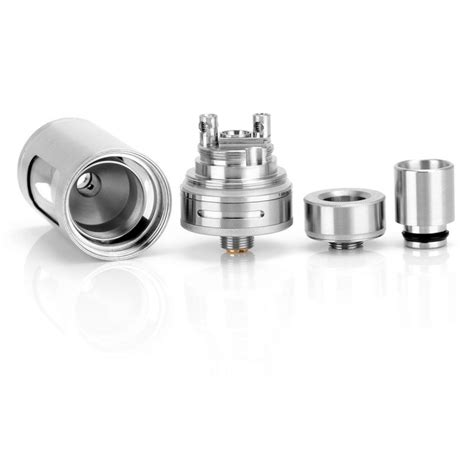 Authentic Serpent Mini Ss By Wotofo 22 Mm Hitam 1 authentic wotofo serpent silver 4ml rta rebuildable tank atomizer