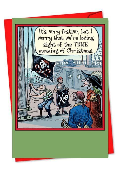 losing sight christmas joke card nobleworkscardscom
