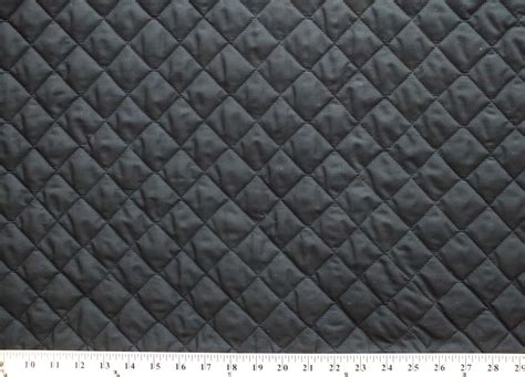 Black Quilted Fabric By The Yard faced reversible pre quilted black polycotton
