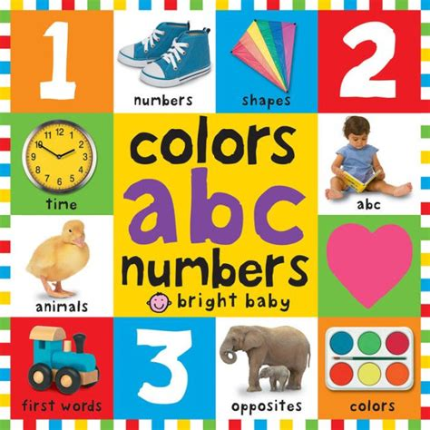book of colors colors abc numbers bright baby series by roger priddy