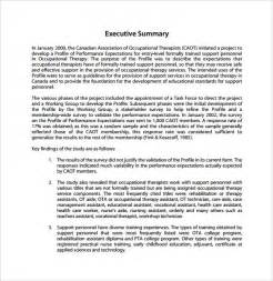 Executive Summary Sample Report Summary Report Template 8 Free Samples Examples Format