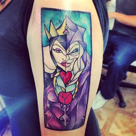 glass tattoo stained glass ariel mermaid on half sleeve