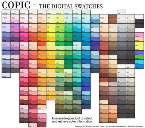 braces color chart copicdigicolorchart334 colors braces