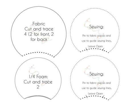 printable pattern template for diy mickey ears or by