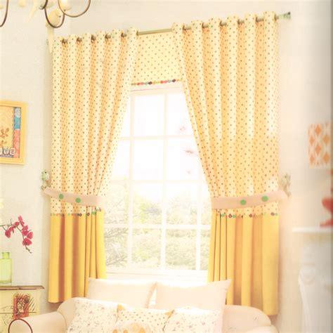 yellow window curtains polk dot yellow bay window curtains for living room